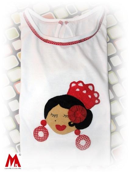 Camiseta personalizada con flamenca